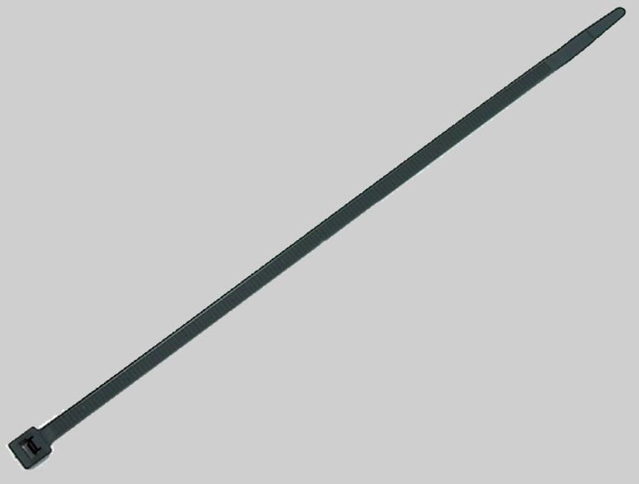 "Black Nylon Wire Tie 11"" - 100 per Pack"