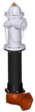 """6"""", Mechanical Joint Inlet, 5' Bury Depth, 250 PSI, Lead-Free, Silver, Ductile Iron, C-Dome Bonnet, 3-Way Nozzle, Fire Hydrant"""