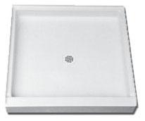 """Florestone 48"""" x 32"""" Fiberglass Shower Base - White"""