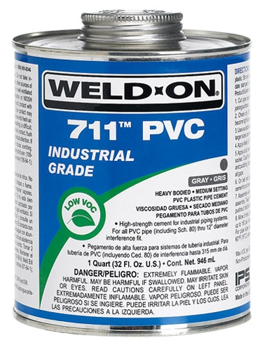 PVC Large Diameter Gray Cement - 1 Qt