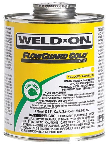 CPVC Cement Flow Guard Gold - 8 Oz