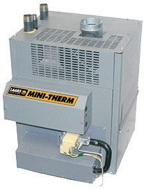 "LAARS Mini-Therm® Hydronic Gas Boiler, 1/2"" Gas, 100 MBH, 82.4% AFUE, Copper, Cast Iron, Natural, Standard"