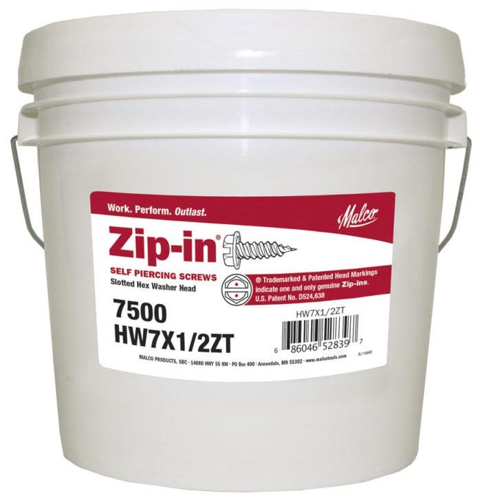 """Malco 1/2"""" #8 Zip Metal Screw - Tub of 1000"""