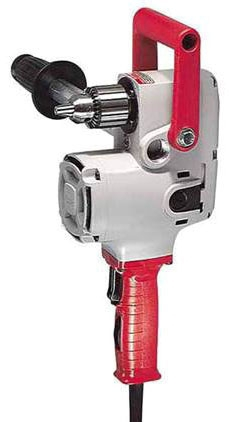 """Milwaukee Tool Hole-Hawg® Power Drill Kit, 120 VAC, 7.5 A, 1/2"""" Keyed Chuck, 300/1200 RPM, Corded, Grounded"""