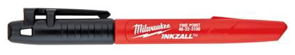 Milwaukee Tool 4 Pack Black Fine Markers