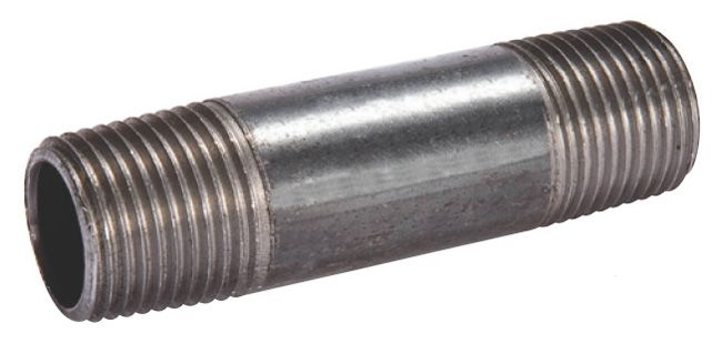"Matco-Norca 1/2"" x 12"" Black Iron Nipple"