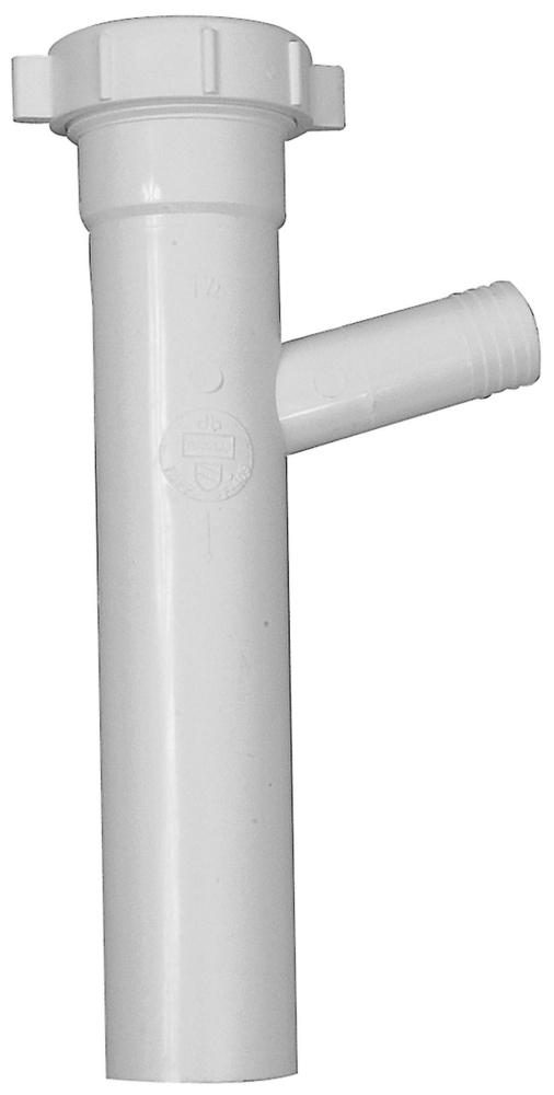 "Oatey 1-1/2"" x 8"" x 3/4"" Slip Joint Branch Tail Piece PVC"