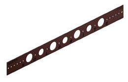 "20"" Copper Bracket with 3/4"" & 1"" Holes"