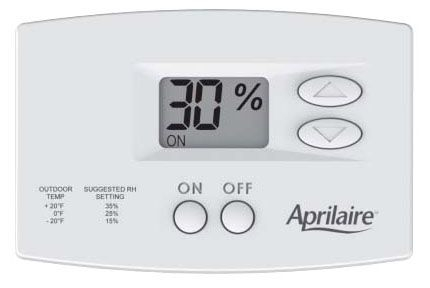 Aprilaire Digital Manual Humidifier Wall Mounted Control