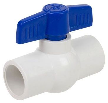 "2"", Slip x Slip, 150 PSI, Schedule 40/80, ABS Handle, PVC Body, Molded-In-Place, Ball Valve"