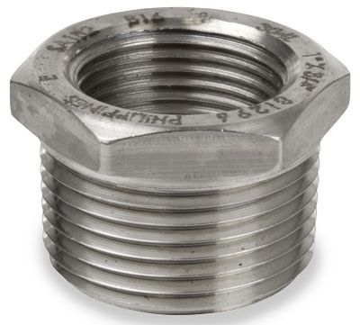 "2"" x 1-1/4"", NPT x NPT, Class 150, 316 Stainless Steel, Heavy Pattern, Hex Bushing"