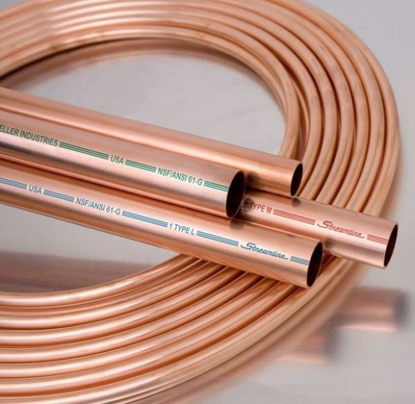 "2-1/8"" x 40' Coil, UNS C12200 Copper Alloy, Type K, Tubing"