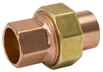 "1"" x 1"", C x C, 700 PSI, Lead-Free, Wrot UNS C12200 Copper Alloy, Straight, Union"