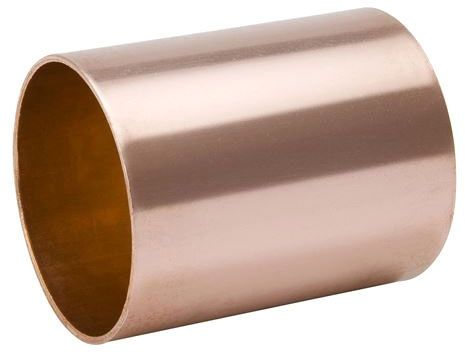 """2"""" x 2"""", C x C, 700 PSI, Lead-Free, Wrot UNS C12200 Copper Alloy, Straight, Coupling with Staked Stop"""