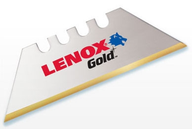 Lenox Tools Gold® Utility Knife Blade (50 per Pack), Bi-Metal, Titanium Coated High SpeedSteel Edge, Round Point