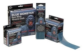 """2"""" x 10 Yards Sand Cloth Open Mesh Blue Monster"""
