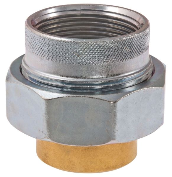 """1"""" x 1"""", FPT x Soldered, 250 PSI WOG, Lead-Free, Forged Steel, Dielectric, Straight, Union"""