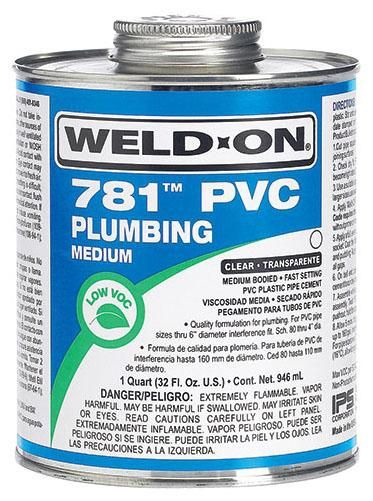 PVC Medium Cement Clear - 1 Qt