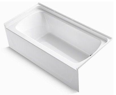 "Sterling 60"" x 30"" Ensemble Bath Tub, Right Drain - White"