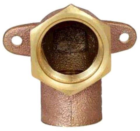 """1/2"""" Copper x FIP Drop Ear 90 Shower Elbow"""