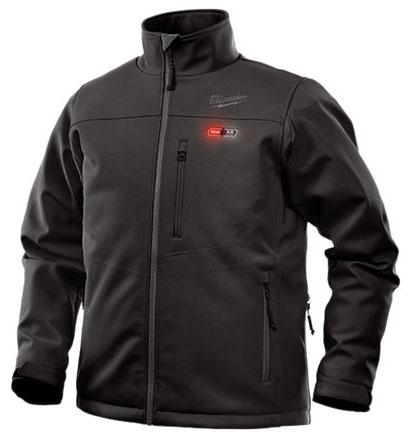Milwaukee Tool Toughshell Jacket Kit, X-Large, Black, Brushed Tricot Lining, Stretch Polyester