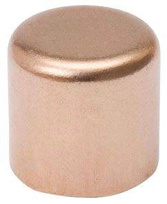 """1/2"""" Copper Cap, C, Lead-Free, Wrot, UNS C12200, Round Head"""