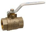 "Nibco Ball Valve, 3/4"", FPT x FPT, 600 PSI Non-Shock CWP, Lead-Free, Forged Brass Body, Stainless Steel/Chrome Plated Brass Ball, 1/4 Turn, Lever Handle, Full Port, 2-Piece"