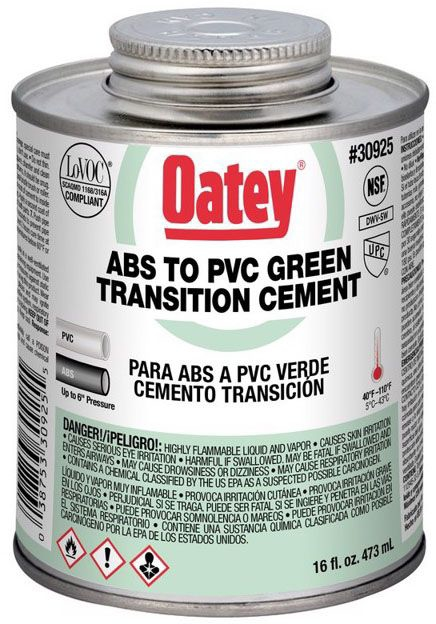 ABS to PVC Transition Cement - 1 Pt