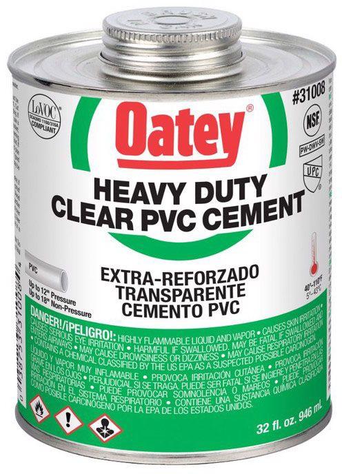 Oatey Heavy Duty PVC Cement - 1 Qt