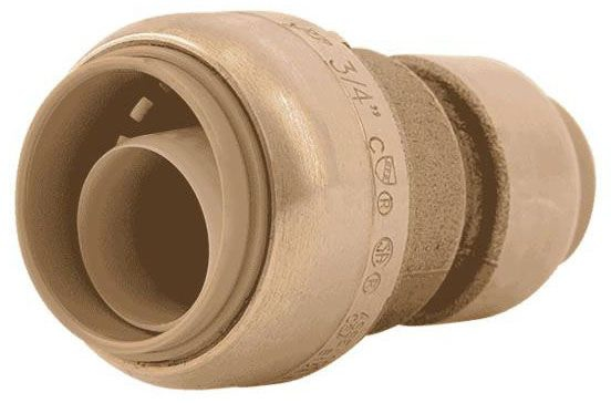 "SharkBite 3/4"" x 1/2"" Shark Bite Reducer Coupling 630-043"