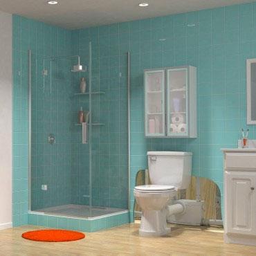 """Saniflo Extension Pipe for Toilet, 4"""" x 18"""", PVC"""