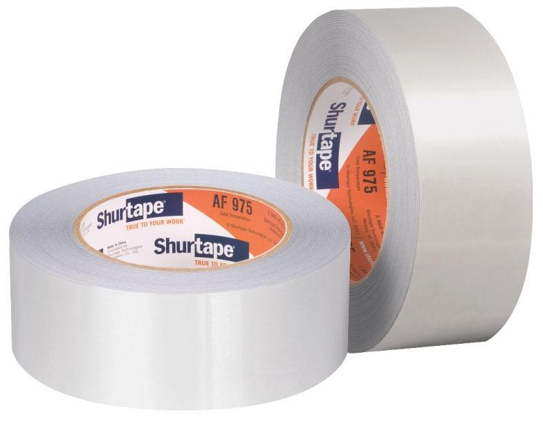 """Shurtape 2.36"""" x 50' Foil Backed Tape Cold Temp Aluminum"""