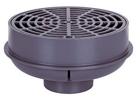 PVC Quad Floor Drain with Strainer (841-2P)