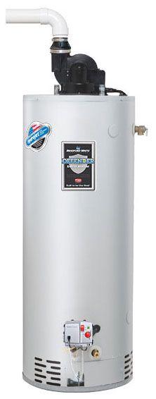 Bradford White RG1PV50S6N 50 Gal Power Vent TTW Energy Saver Natural Gas Water Heater, 40K BTU
