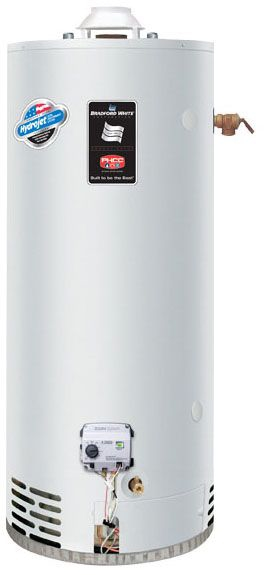 Bradford White RG250H6N 48 Gal Defender Safety System High Recovery Energy Saver Natural Gas Water Heater, 65K BTU