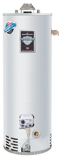 Bradford White RG250T6N 50 Gal Natural Gas Power Vent Energy Saver Water Heater, 40K BTU