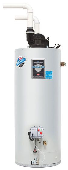 Bradford White RG2PDV50H6N 48 Gal High Efficiency Power Direct Vent Natural Gas Water Heater, 60K BTU