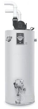 Bradford White RG2PDV50S6N 50 Gal Defender Safety System Power Direct Vent Energy Saver Natural Gas Water Heater, 40K BTU