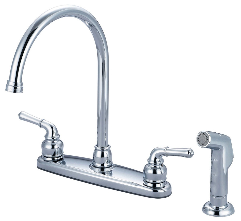 ACCENT LVR HDL SINK GN SPOUT W/SPRAY CHR
