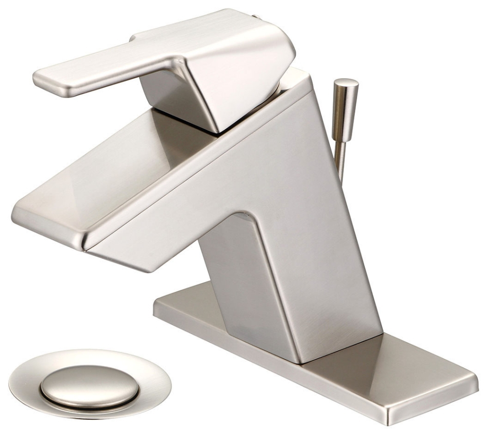 OLYMPIA SINGLE HANDLE LAV FAUCET BN