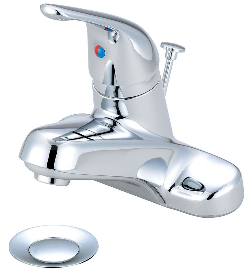 OLYMPIA SINGLE HANDLE LAV FAUCET W/PU CP