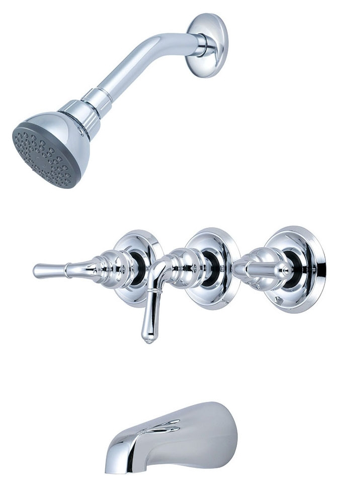 OLYMPIA 3-HDL TUB SHOWER FAUCET CHROME