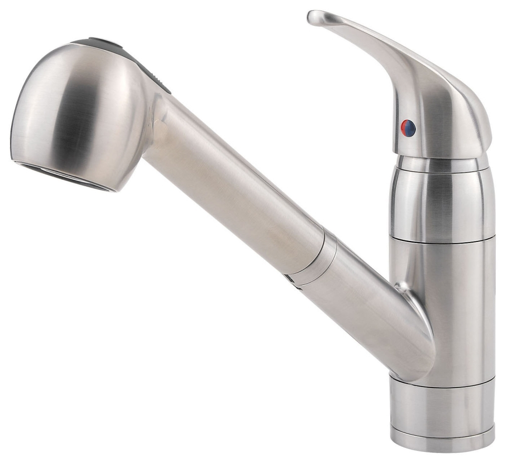 SINGLE HDL PULLOUT KITCHEN FAUCET SS