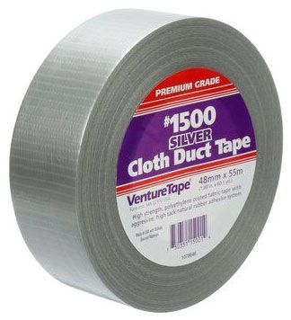 "Adhesive Duct Tape - Venture Tape, 2"" x 60 Yd x 10 Mil, Black"