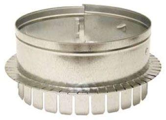 """8"""" Galvanized Round Long Tab Sheet Metal Duct Collar"""