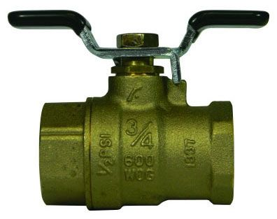 "3/4"" Full Port Heavy Duty Ball Valve - T-Handle, FPT, 600 psi WOG"