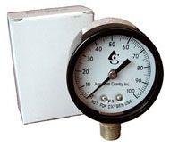 "1/4"" MPT 2"" Dial Pressure Gauge - Plastic, 0 to 100 psi"