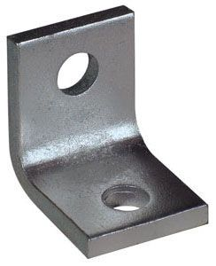 """11/16"""" Hole Carbon Steel 2-Hole L Angle Beam Bracket"""