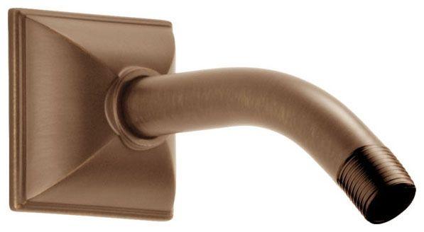"""1/2"""" NPT 7"""" L Bend Shower Arm - Vesi, Brilliance Brushed Bronze"""