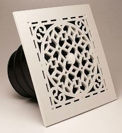 "11-1/4"" x 3-1/4"" High Impact Polymer 1-Way Ceiling Diffuser - Airtec Retro, White"